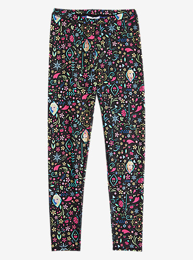 Disney Frozen Girls' Legging shown in Elsa Anna Print © Disney