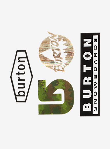 Burton Throwback Sticker Pack shown in Throwback