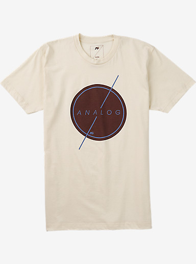 Analog Strike Thru Short Sleeve T Shirt shown in Vellum