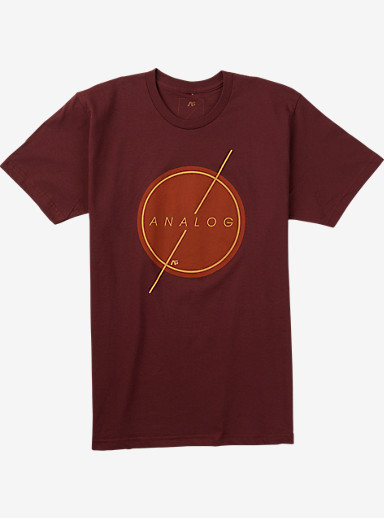 Analog Strike Thru Short Sleeve T Shirt shown in Oxblood