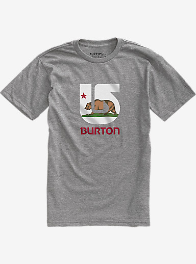 Burton California Flag Short Sleeve Slim Fit T Shirt shown in Premium Heather