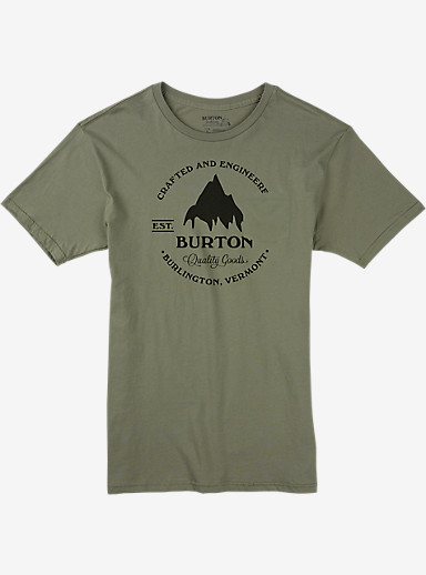 Burton Gristmill Slim Fit Short Sleeve T Shirt shown in Light Olive