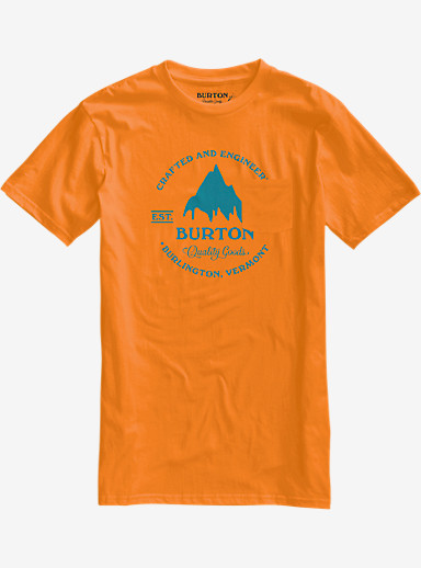 Burton Gristmill Slim Fit Short Sleeve T Shirt shown in Neon Heather Orange