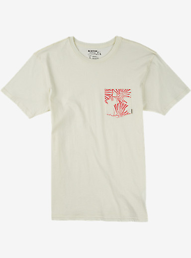 Burton Danhole Slim Fit Short Sleeve Pocket T Shirt shown in Vanilla