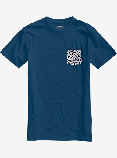 Burton Danhole Slim Fit Short Sleeve Pocket T Shirt shown in Indigo