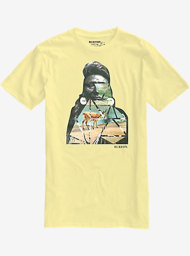 Burton Congratz Slim Fit Short Sleeve T Shirt shown in Banana