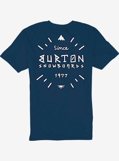 Burton Sanford Slim Fit Short Sleeve T Shirt shown in Indigo