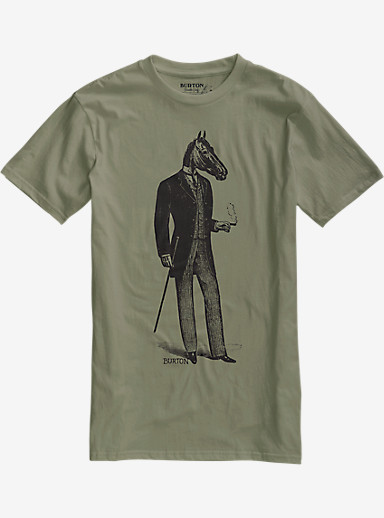 Burton Gentle Horseman Slim Fit Short Sleeve T Shirt shown in Light Olive