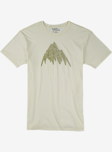 Burton Topo MTN Slim Fit Short Sleeve T Shirt shown in Vanilla