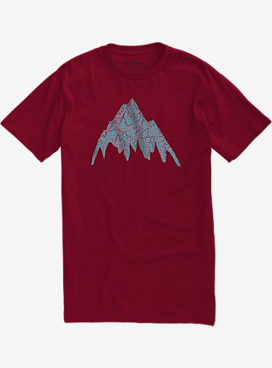 Burton Topo MTN Slim Fit Short Sleeve T Shirt shown in Cardinal