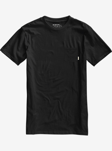 Burton Brewgnar Slim Fit Short Sleeve Pocket Tee shown in True Black