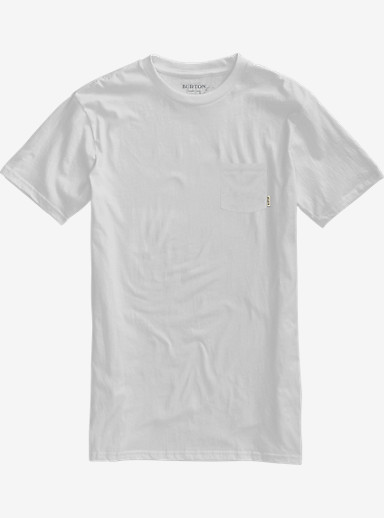Burton Brewgnar Slim Fit Short Sleeve Pocket Tee shown in Stout White