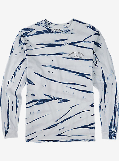 Burton East West Long Sleeve T Shirt shown in Stout White Shibori