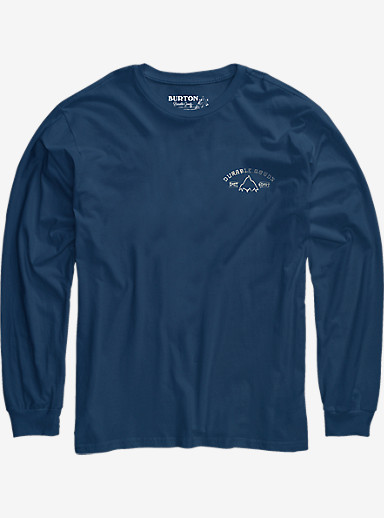Burton East West Long Sleeve T Shirt shown in Indigo