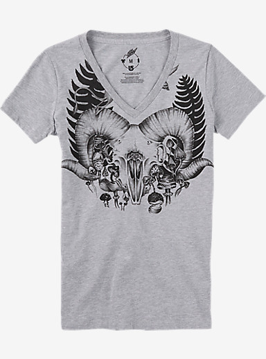 Burton Ferny V-Neck T Shirt shown in Gray Heather