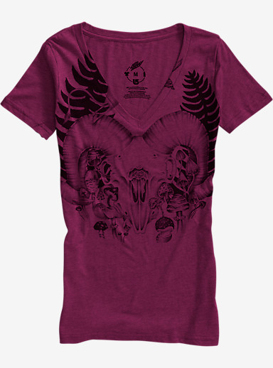 Burton Ferny V-Neck T Shirt shown in Plum Heather