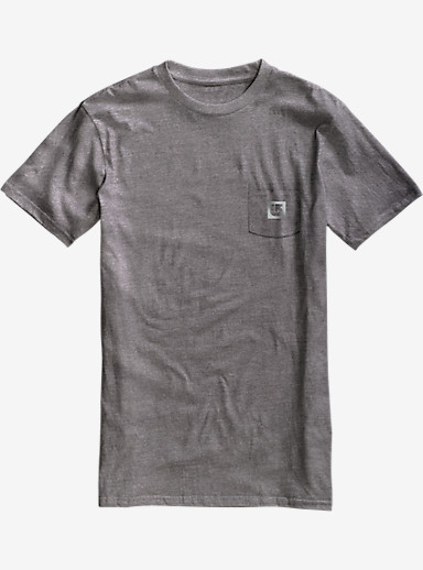 Burton Gym Rat Slim Fit Short Sleeve Pocket T Shirt shown in Gray Heather