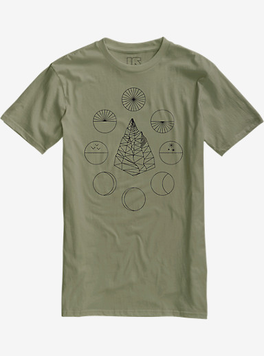 Burton Celestial Slim Fit Short Sleeve T Shirt shown in Light Olive