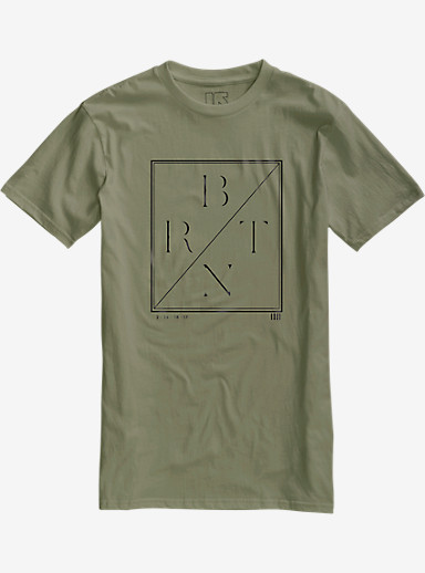 Burton Lurch Slim Fit Short Sleeve T Shirt shown in Light Olive