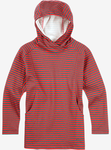 Burton Girls' Dialog Pullover Hoodie shown in Tropic Honey Stripe