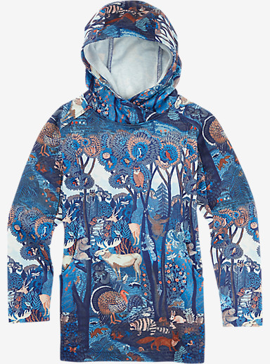 Burton Girls' Dialog Pullover Hoodie shown in Eden Print