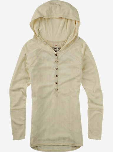 Burton Avocet Hooded Henley shown in Canvas