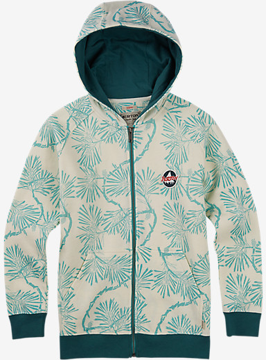 Burton Boys' Hondo Full-Zip Hoodie shown in Canton Pinetree Floral