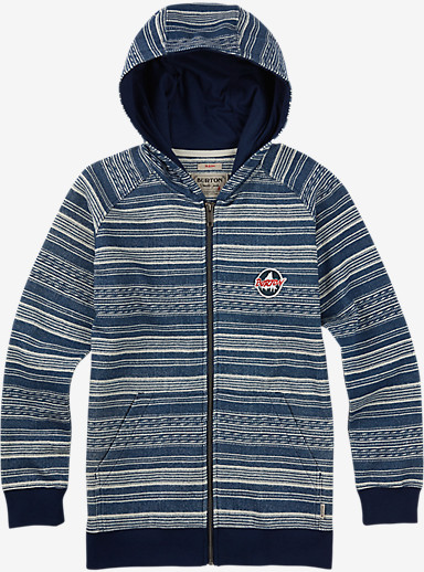Burton Boys' Hondo Full-Zip Hoodie shown in Indigo Yarny