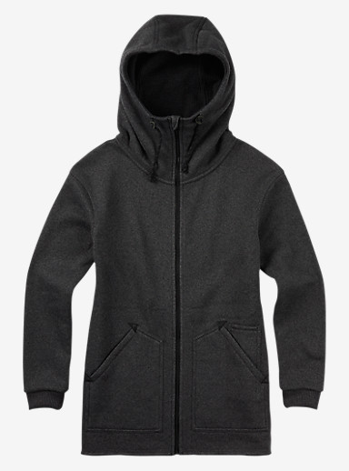 Burton Minxy Fleece shown in True Black Heather
