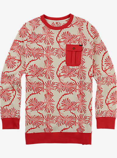 Burton Granville Crew Pullover shown in Tropic Pinetree Floral