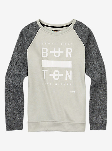 Burton Quartz Crew shown in Dove Heather