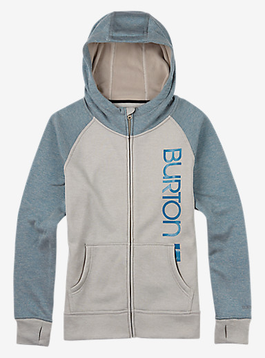 Burton Quartz Full-Zip shown in Dove Heather