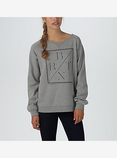 Burton Lurch Crew shown in Gray Heather