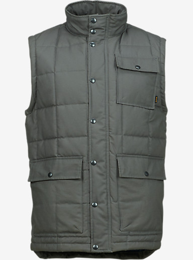 Burton Woodford Vest shown in Dark Ash