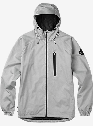 Burton Portal Rain Jacket shown in High Rise Heather