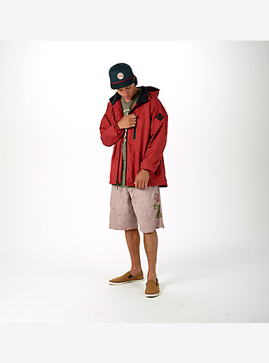 Burton Portal Rain Jacket shown in Brick Red [bluesign® Approved Fabric]