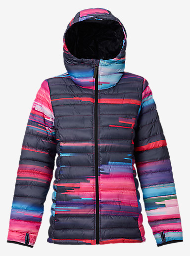 Burton Women's Evergreen Hooded Synthetic Insulator shown in Flynn Glitch