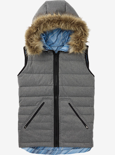 Burton Vesta Vest - Reversible shown in High Rise Heather