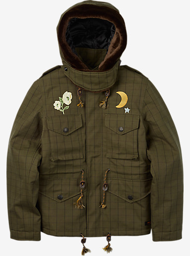 BURTON x NEIGHBORHOOD M-65 Jacket shown in Olive Drab