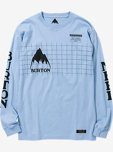 BURTON x NEIGHBORHOOD Grid Long Sleeve T Shirt shown in Sax