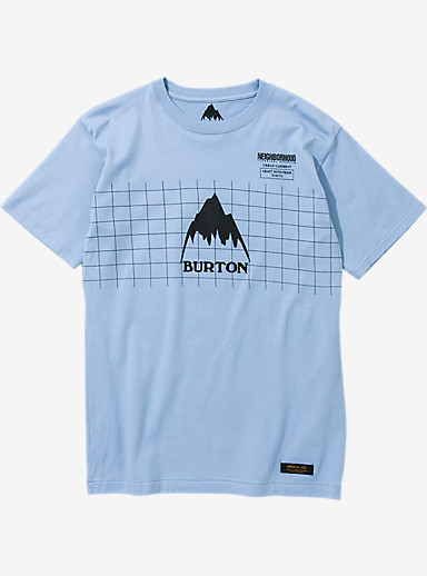 BURTON x NEIGHBORHOOD Grid Short Sleeve T Shirt shown in Sax