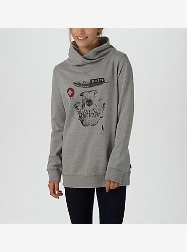Burton BRTN Astor Mock Neck shown in Gray Heather