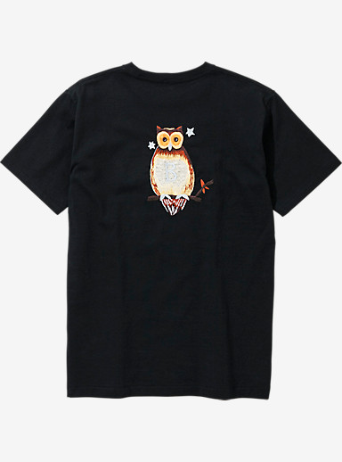 BURTON x NEIGHBORHOOD EMB Owl Short Sleeve T Shirt shown in Black