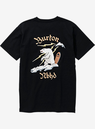 BURTON x NEIGHBORHOOD EMB Bear Short Sleeve T Shirt shown in Black