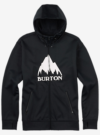 Burton Bonded Full-Zip Hoodie shown in True Black