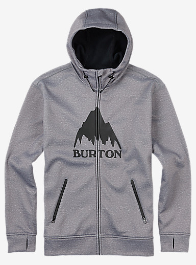 Burton Bonded Full-Zip Hoodie shown in Monument Heather