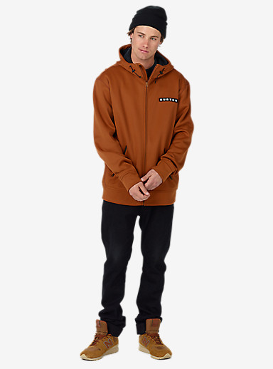 Burton Bonded Full-Zip Hoodie shown in True Penny