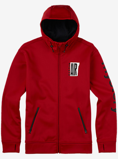 Burton Bonded Full-Zip Hoodie shown in Process Red