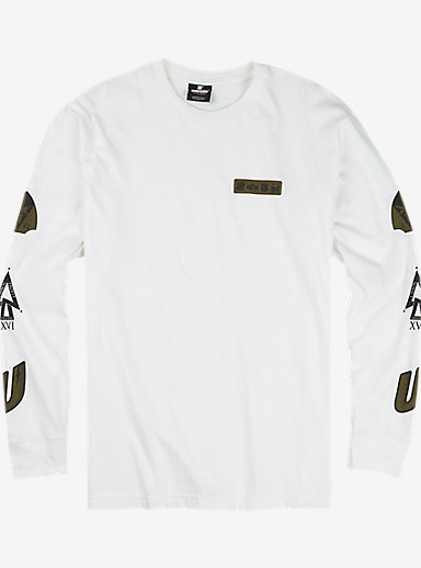 UNDEFEATED x Alpha Industries x Burton Patch Long Sleeve T Shirt shown in White