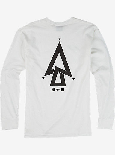 UNDEFEATED x Alpha Industries x Burton Trinity Long Sleeve T Shirt shown in White